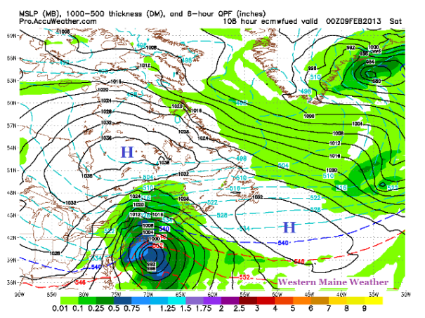 12z ECMWF at 7 PM Friday