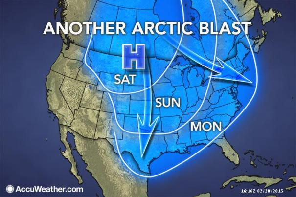 More Cold Monday. Credit: AccuWeather