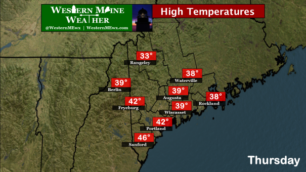 High Temperatures Thursday, April 2 2015